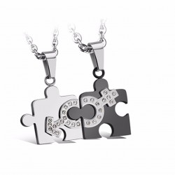 Steel Couple Necklace TCN012