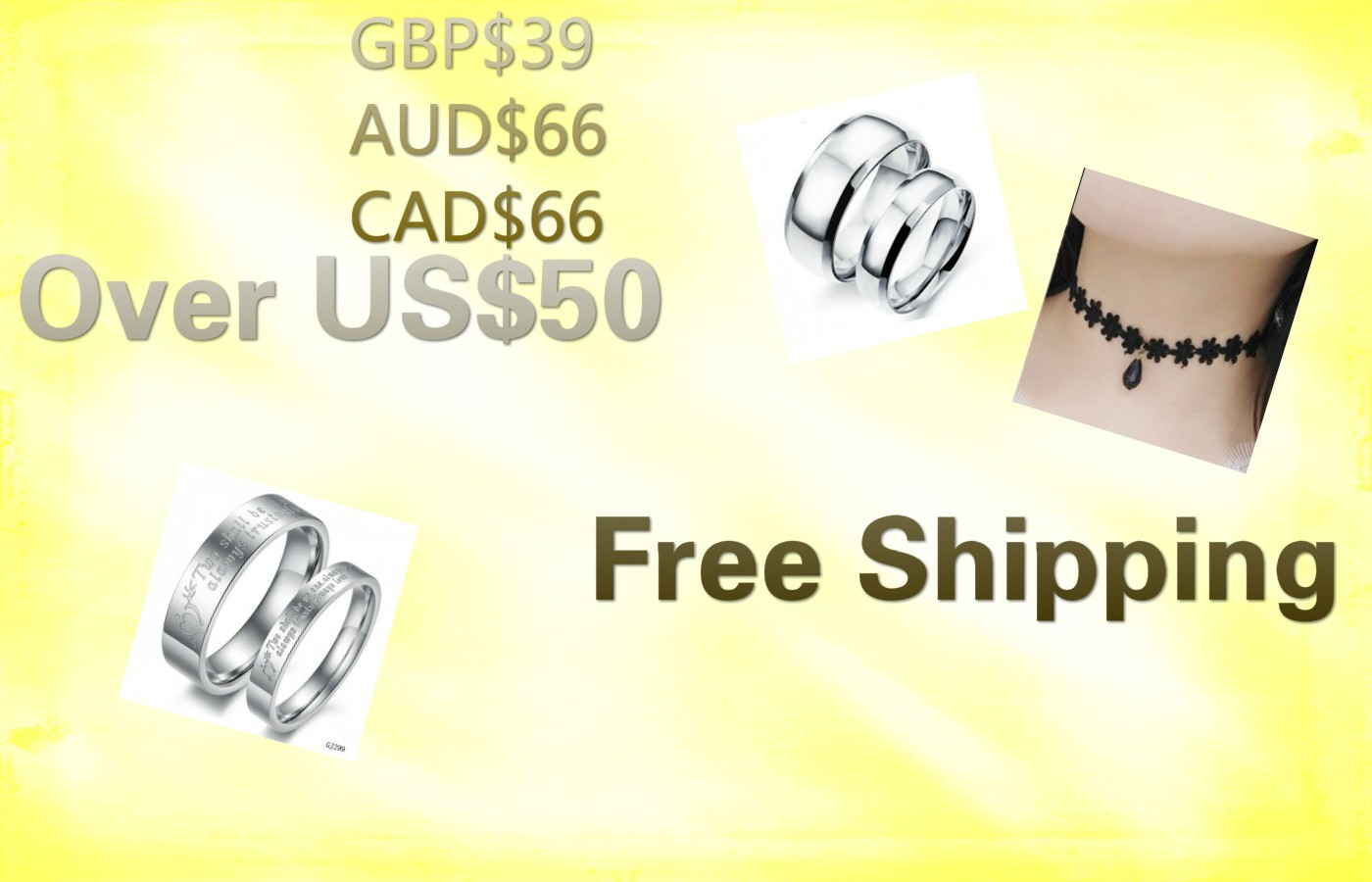 Over US$50 Free Shipping