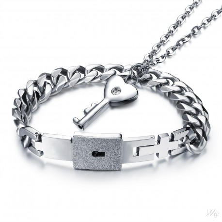 Steel Couple Necklace TCN025