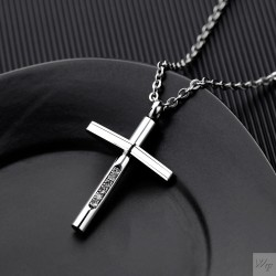 Titanium steel men necklace TMN081