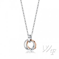 Titanium steel necklace TMN323