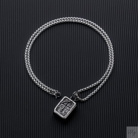Titanium steel necklace TMN373