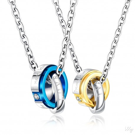 Steel Couple Necklace TCN049