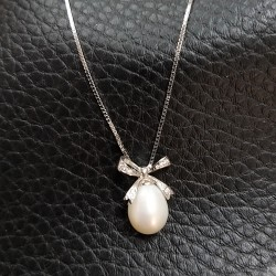 925 Silver Freshwater Pearl Necklace SN091