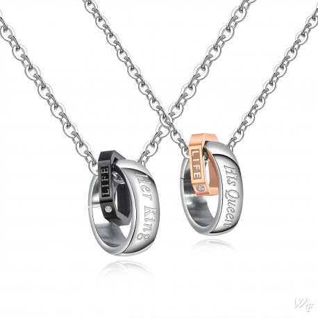 Steel Couple Necklace TCN050