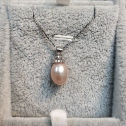 925 Silver Freshwater Pearl Necklace SN103
