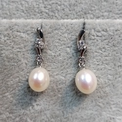 925 Silver Freshwater Pearl Earrings SEP040