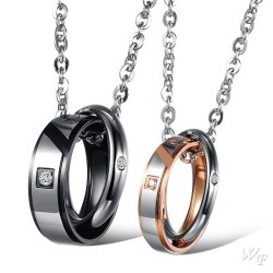 Steel Couple Necklace TCN051