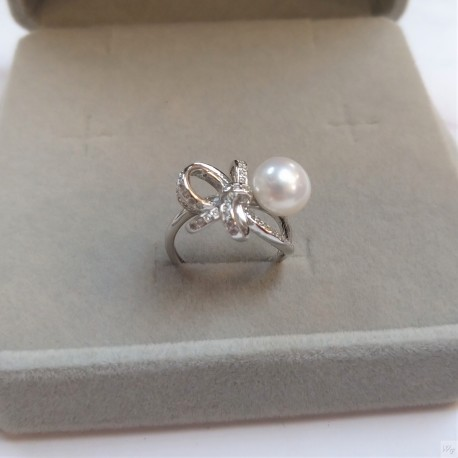 925 Silver Freshwater Pearl Ring SR051