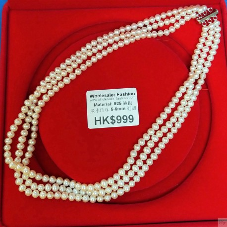 925 Silver Freshwater Pearl Necklace SN118