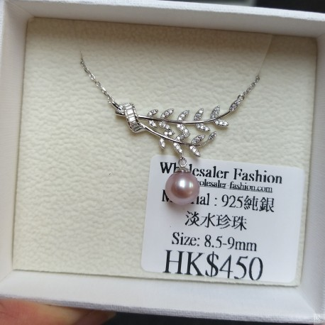 925 Silver Fresh Water Pearl Necklace SN170