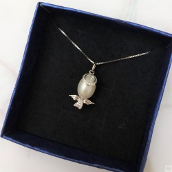 925 Silver Fresh Water Pearl Necklace SN193