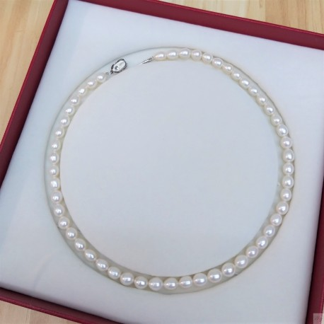 925 Silver Fresh Water Pearl Necklace SN194