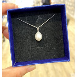 925 Silver Fresh Water Pearl Necklace SN196