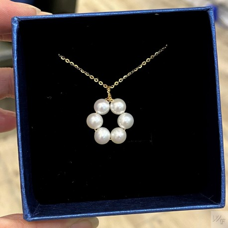 925 Silver Fresh Water Pearl Necklace SN199