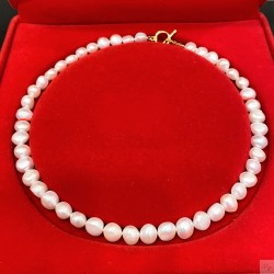 925 Silver Baroque Fresh Water Pearl Necklace SN212