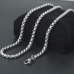 Titanium steel men necklace 3mm X 60cm TMN036