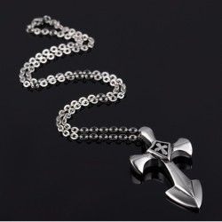 Titanium steel men necklace TMN043