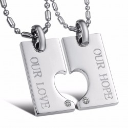 Steel Couple Necklace TCN010